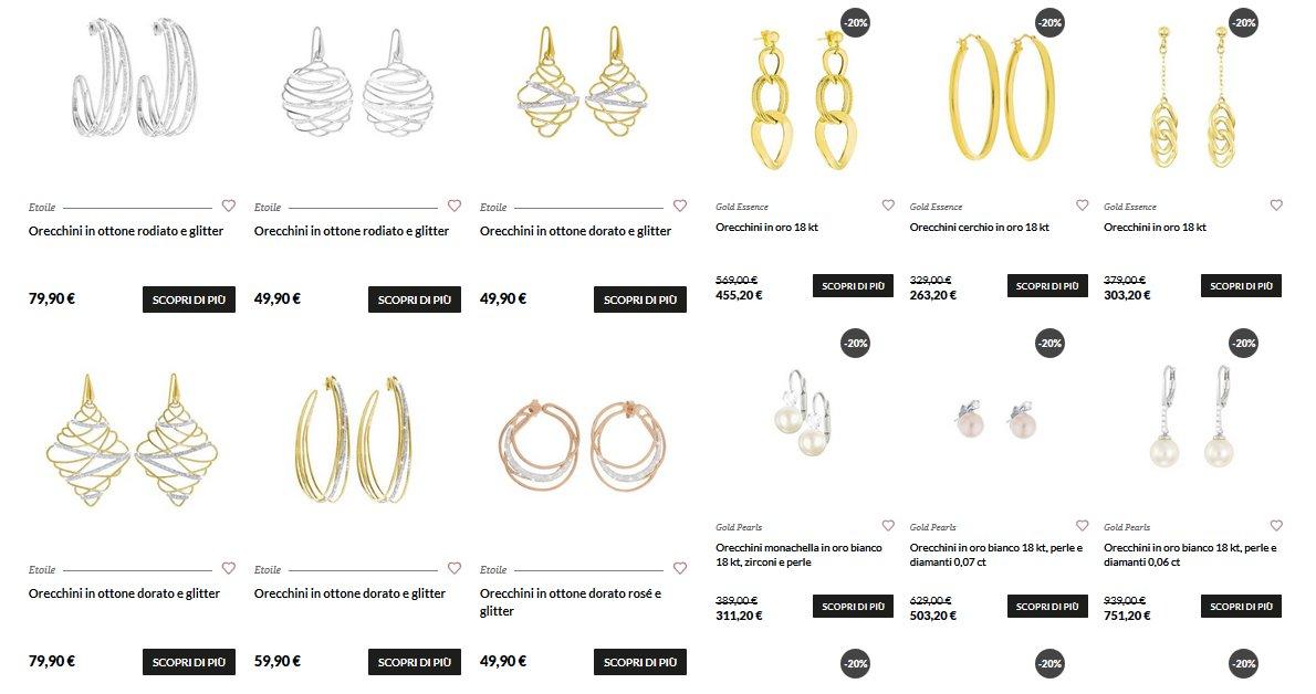 orecchini in oro bianco stroili oro