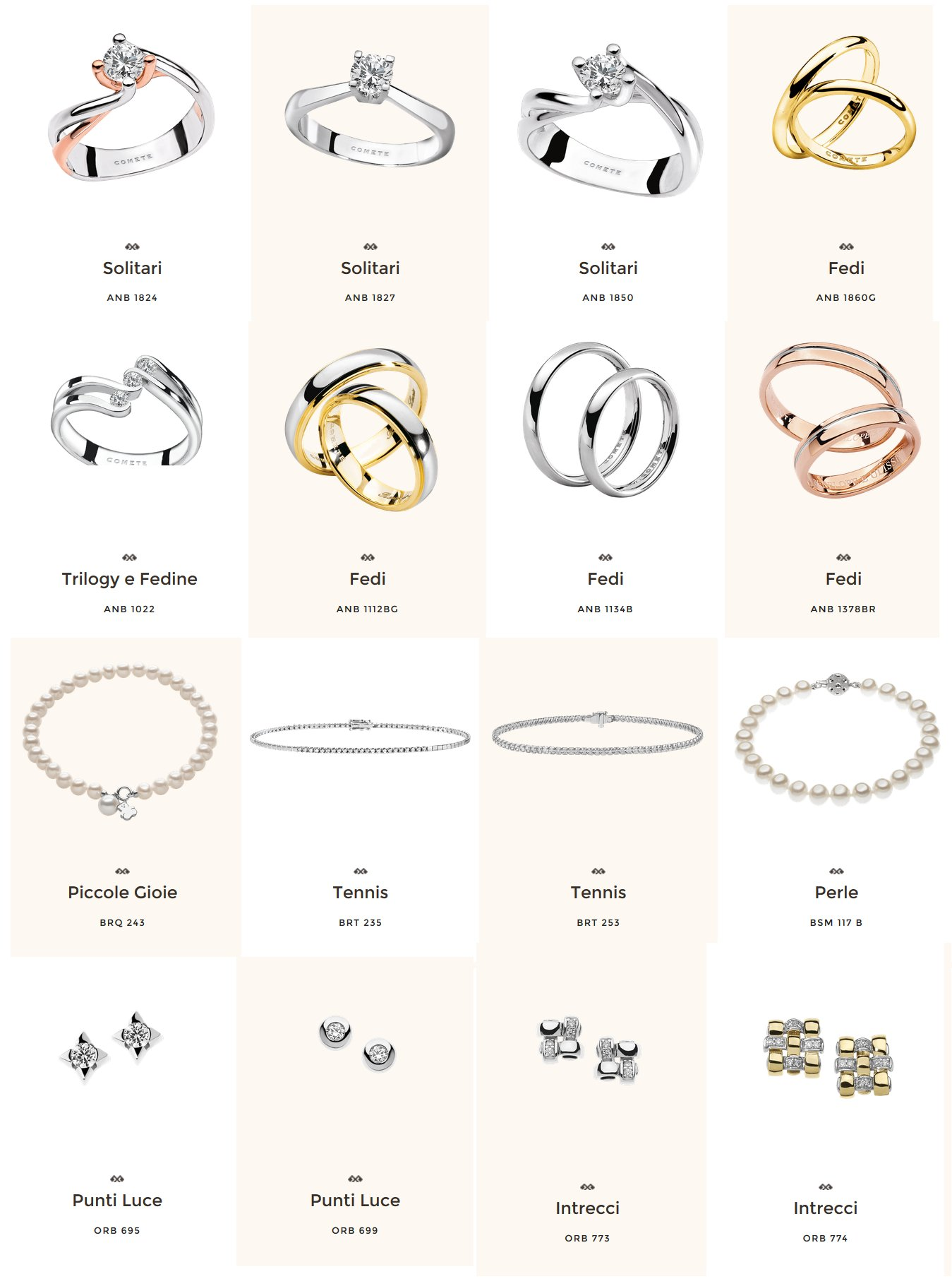 nuovo concetto 6edb1 80e55 Comete Gioielli shop online - Gioielli Shop Online